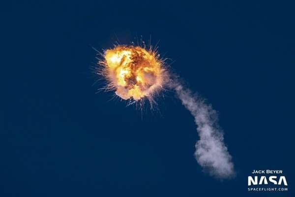 美国 Alpha 火箭空中爆炸:  仅升空 105 秒